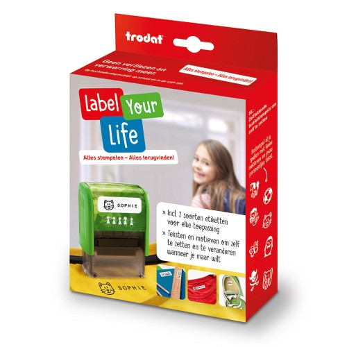 Trodat Label Your Life stempel (37x13mm)
